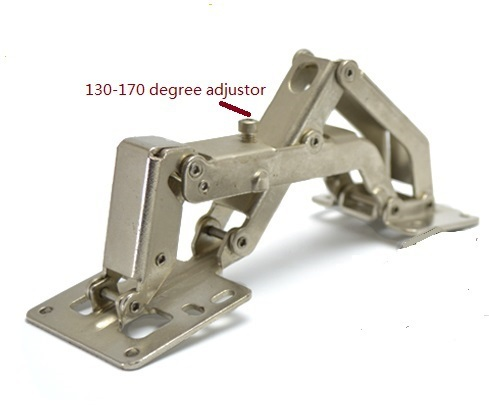 Charmant 6PCS/LOT Surface Mount Concealed Full Overlay Hinge 165 170 Degrees Open  Non Mortise