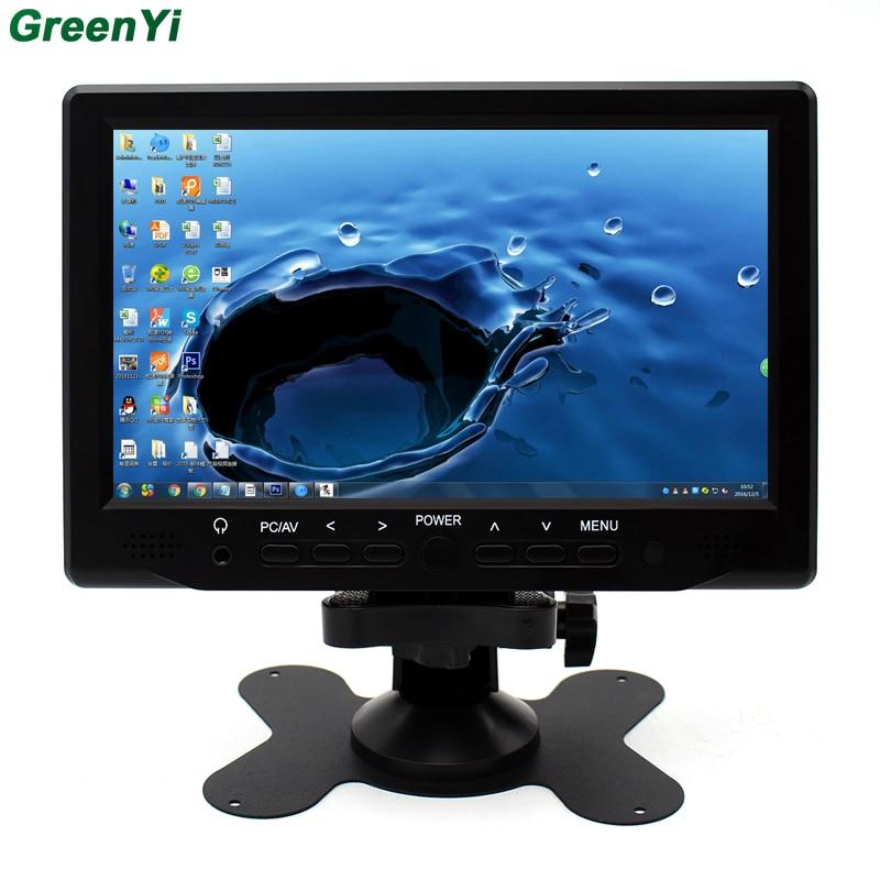 imágenes para Super HD LCD Monitor de 7 pulgadas Con VGA + AV + HDMI Ultra Alto Brillo de Hasta 800*480 Visualización del Monitor del coche de La Familia Y el USO Del Coche