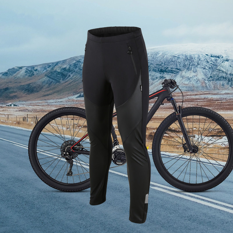 SANTIC Cycling Fleece Long Pants for Men Windproof Thermal Warm Sports Mtb Road Bike Trousers Breathable Cycling Running Pants santic men winter cycling pants thermal fleece windproof mtb road bike pants 4d padded bicycle long pants cycling clothes