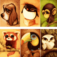 DIY Digital Frameless Cartoon Pictures Painting By Numbers Canvas Oil Painting Europe Home Decoration Wall Art