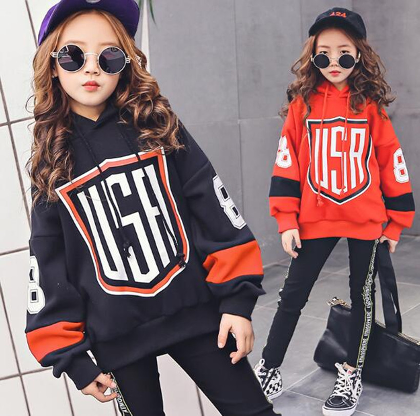 Children Tracksuit For Girls Teenage Girls Clothing Set Spring Hoodie + Pants 2 pcs Girl Clothes Outfits Girls Sports Suit 4-14Y 2018 spring kids sport suit boys girls hooded clothing set zipper sports clothes for 4 14t teenage children tracksuit