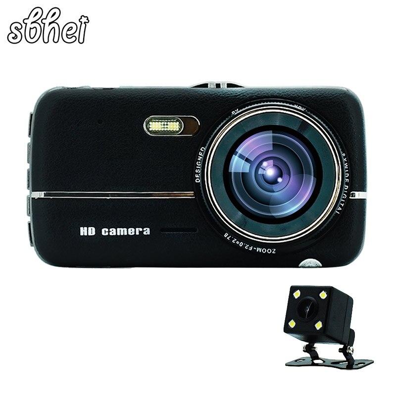 sbhei 4.0 IPS Car DVR Camera Dual Lens Dash Cam FHD 1080P with Rear view Auto Registrator Digital Video Recorder Camcorder