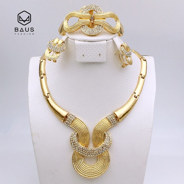 Top 2017 NOUVEAU design bonne qualité parure bijoux femme Plaque Ou  OT43