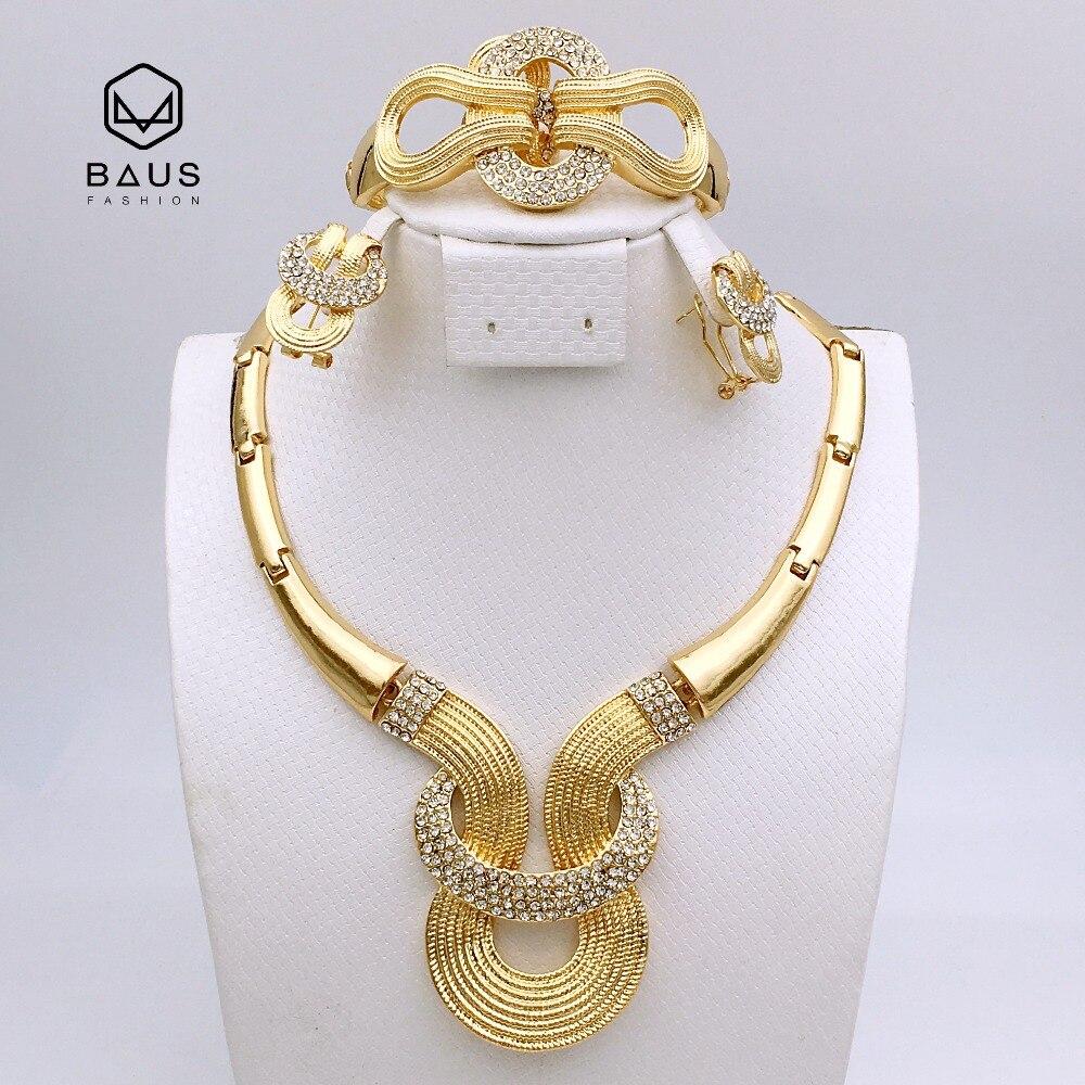 parure bijoux or