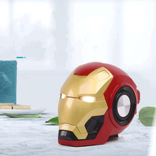 лучшая цена Iron Man Wireless Bluetooth Speaker bass Cartoon Gift Mini Shape Portable with TF FM for iphone computer xiaomi Portable Speaker
