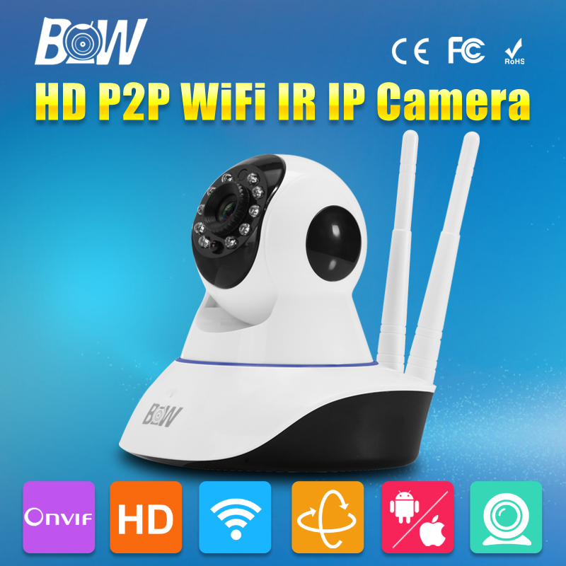 HD 720P WiFi IP Camera Wireless IR-Cut Night Vision Two Way Audio P2P Surveillance Security Camera Wi-Fi Micro SD Card 720p hd ip camera wireless wifi pan tilt two way audio p2p ir cut onvif cloud night vision micro sd card security cctv camera
