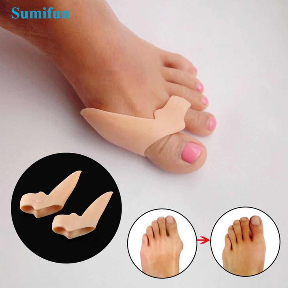 Sumifun 2Pcs Foot Corn Removal Hallux Valgus Bicyclic Thumb Orthopedic Braces To Correct Orthotics Toe Big Bone Spreader Z24501