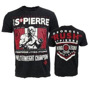 Мужская футболка VSZAP, Повседневная футболка с коротким рукавом, UFC, MMA, для тренировок
