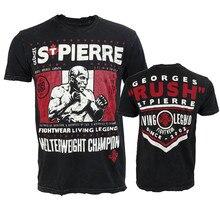 VSZAP Casual Fightwear Living Legend Mens T-Shirt Short Sleeve UFC Fight MMA Fighting Workout Muay Thai Sanda Men Tshirt