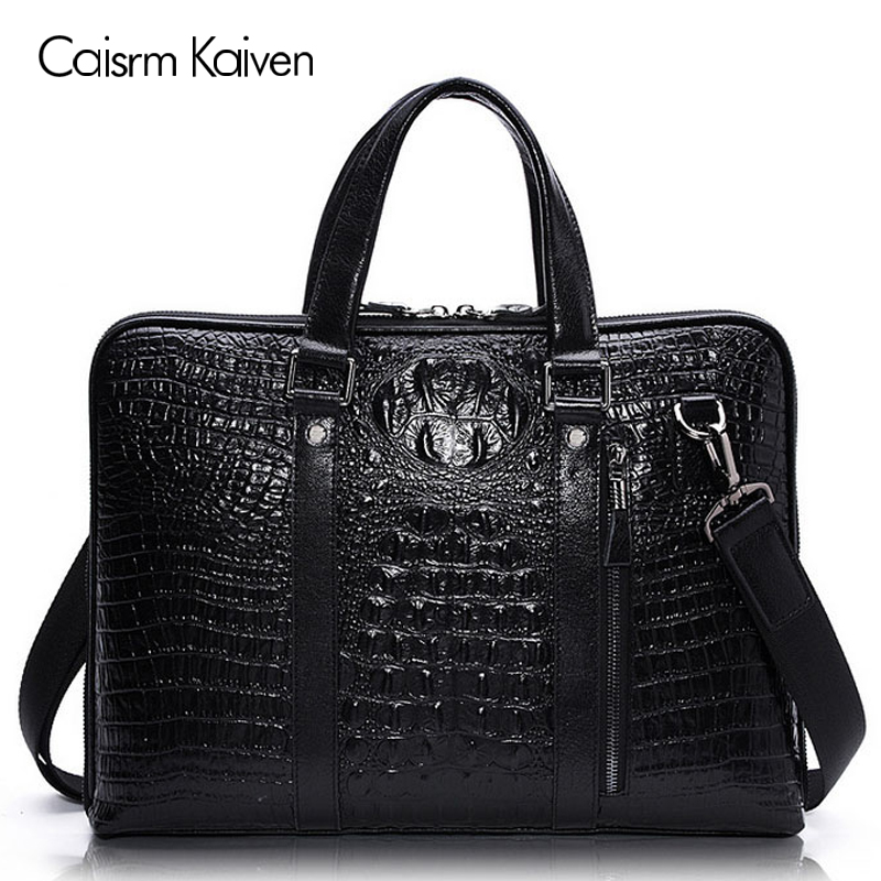 100% cowhide leather menu0027s leather handbag crocodile pattern sectional briefcase computer bag Messenger bag  sc 1 st  AliExpress.com : 100 genuine leather sectional - Sectionals, Sofas & Couches
