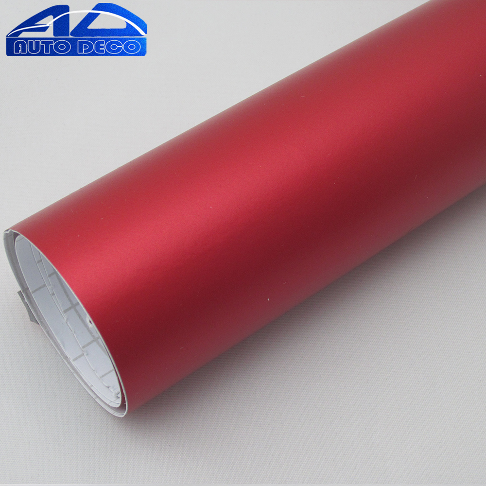 High Quality Car Vinyl Wrap Red Matte Chrome Film Sticker With Air Bubble Free Easy to Stretch Free Shipping By FedEx 20m/roll