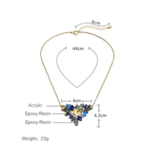 Exquisite Rhinestone Pendant Necklace Thin Chain Collar Necklace Jewelry
