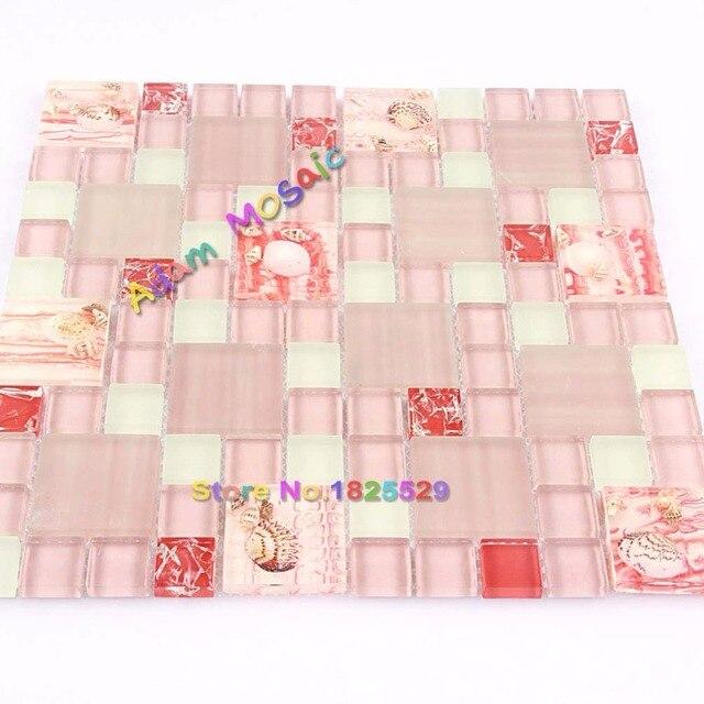 mosaikfliesen wei, rosa mosaik fliesen conch backsplash glas weiß fliesen küche wand, Design ideen