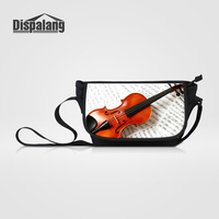 Dispalang Brand Design Violin Messenger Bags For Teenagers High Quality Canvas Young Men Women Shoulder Bag