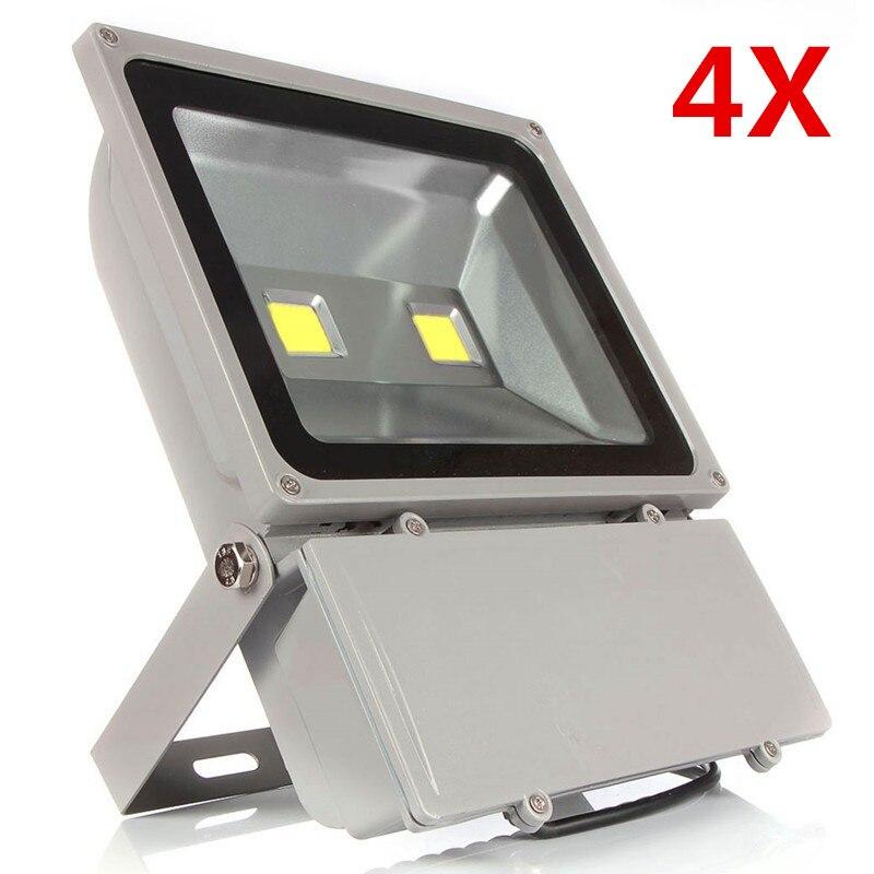 цена на 4X Waterproof IP66 100W High Power Led Floodlight Outdoor Led Flood light Energy Saving Lamp Warm/Natural/Cold White