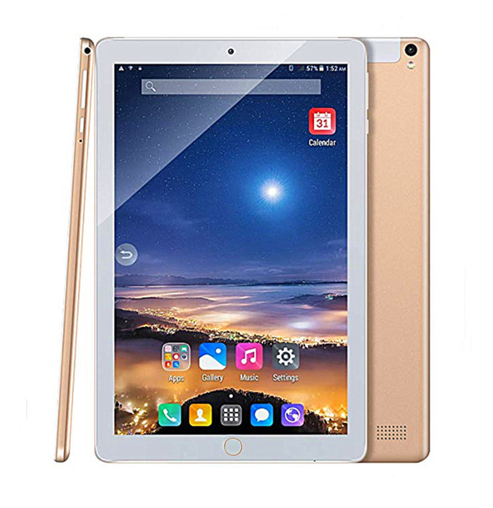 ZONNYOU Android 8.0 Tablet PC 10.1 Inch 4GB/64GB Tablets Octa Core Tablet PC Wifi Bluetooth 3G Phone Call Dual SIM Tablet