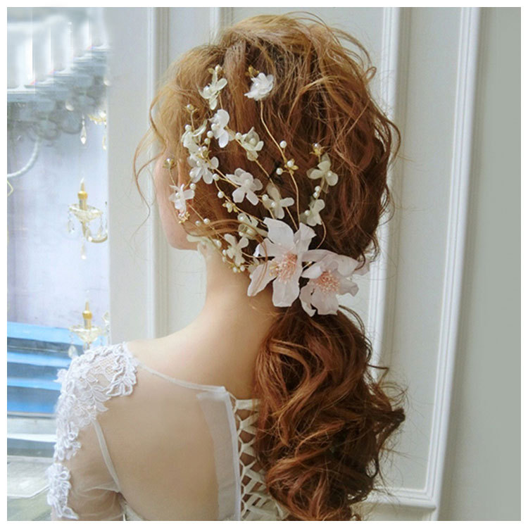 Idealway Luxury Gold Hairgrips Pearl Lace Hair Jewelry Festival Gifts Bride Hairpin Wedding Bridal Hairpieces Accessories lysumduoe headband black hairpin women clip s shape barrette girl hairgrip hairgrips children hairpins jewelry hair accessories