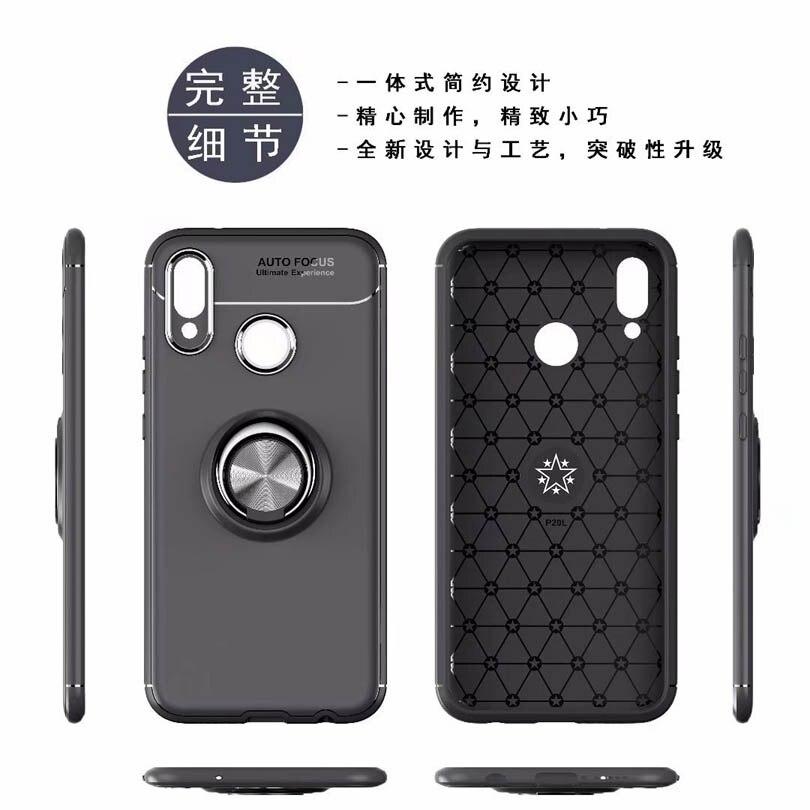 For Huawei P20 P9 P10 Lite Pro Plus 7C 7X Case Magnetic Car Holder P20Lite Case 360 Rotating Finger Ring Phone Cover Capa Case