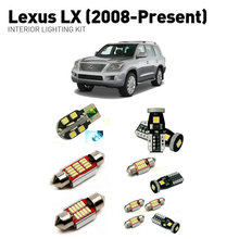 Led interior lights For Lexus Lx 2008+  9pc Lights Cars lighting kit automotive bulbs Canbus