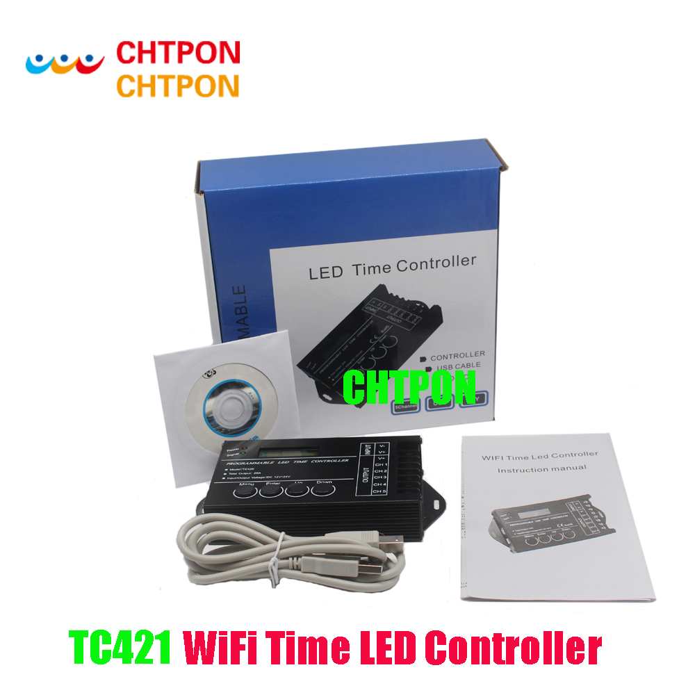 Fish tank light timer - Tc421 Wifi Time Programmable Led Controller Tc420 Dimmer Rgb Aquarium Lighting Timer Dc12 24v