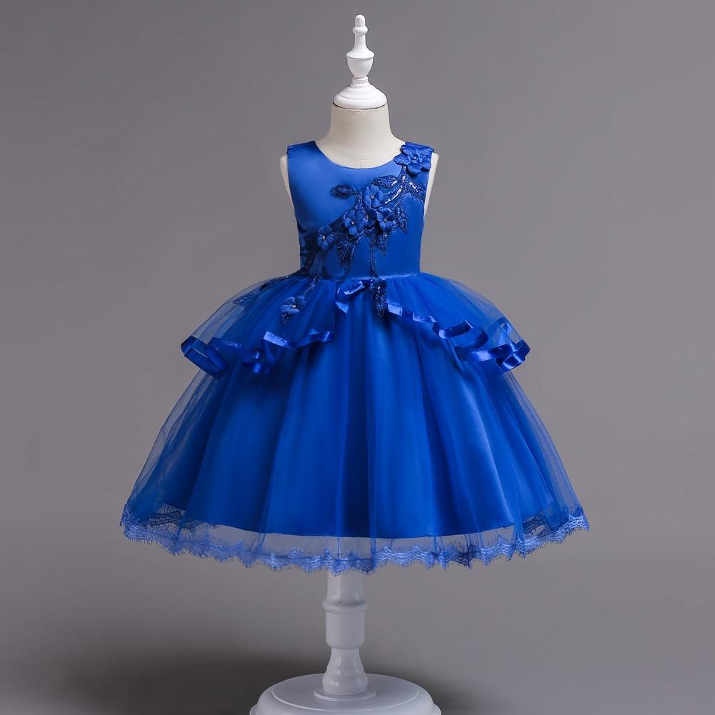 Детские праздвечерние чные платья для девочек 3-11, 12, 13 и 14 лет, красные, белые, бирюзовые, королевский синий наряд принцессы для выпускного вечера, свадебные платья для детей