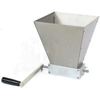 Newest Stainless 2 Roller Barley Malt Mill Grain Grinder Crusher For Homebrew