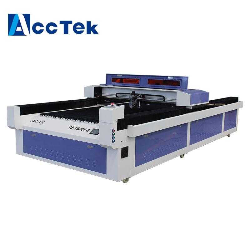 Jinan Acctek two heads 2d photo crystal laser engraving machine , laser cutting machines 1530