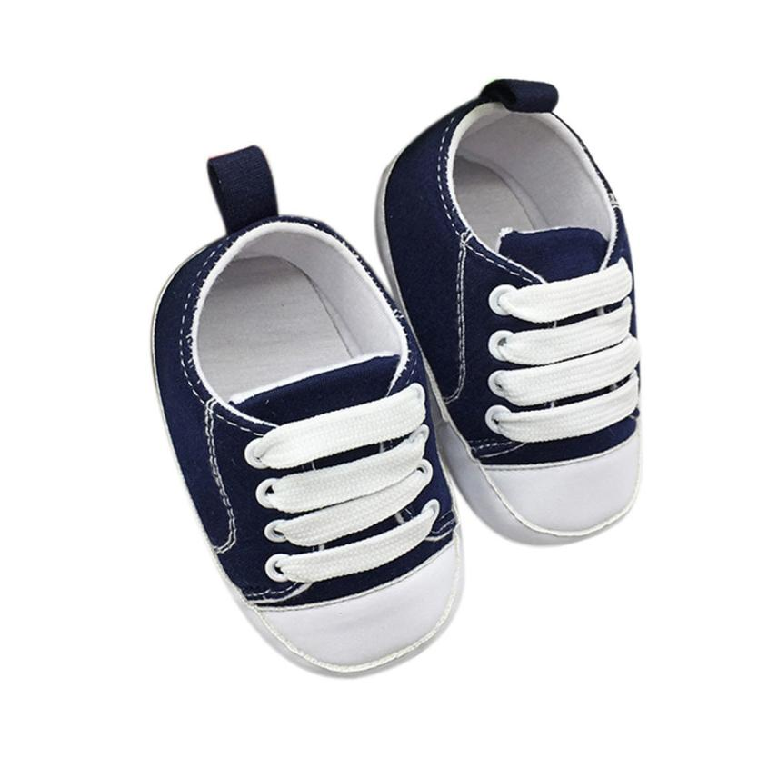 Baby shoes unisex kids canvas shoes Girls boys Anti-Slip Soft Solid Canvas Shoes toddler baby kids first walkers bebes