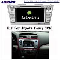 Liislee Android 7.1 2 г Оперативная память для Toyota Camry xv40 автомобиля Радио Аудио Видео Мультимедиа dvd плеер WI FI DVR GPS navi навигации