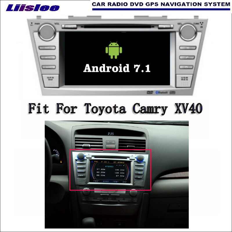 Liislee Android 7.1 2G RAM For Toyota Camry XV40 Car Radio Audio Video Multimedia DVD Player WIFI DVR GPS Navi Navigation liislee android gps navigation system for toyota hiace haise h2 regiusace 2004 2013 radio audio multimedia no dvd player