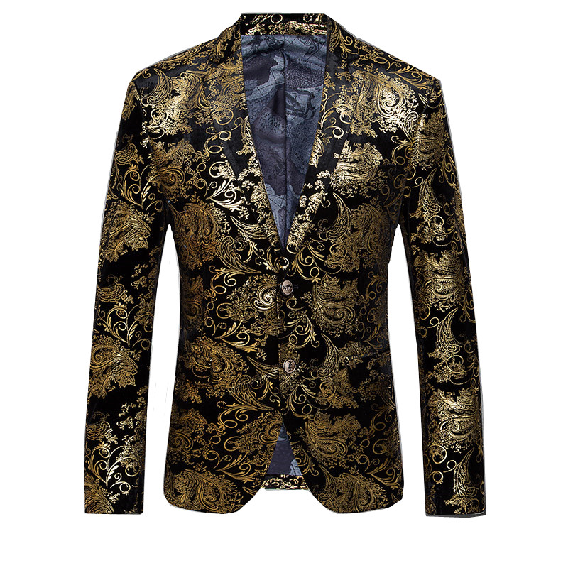 LEFT ROM 2018 fashion high-grade slim men business Blazers/Male printing high-quality casual jacket/fashion leisure coat suit