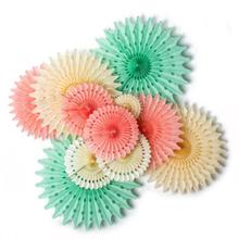 Hanging Paper Rosette Decoration 5pcs 20cm Tissue Fans Bridal  Baby Showers Wedding Happy Birthday Party Supply