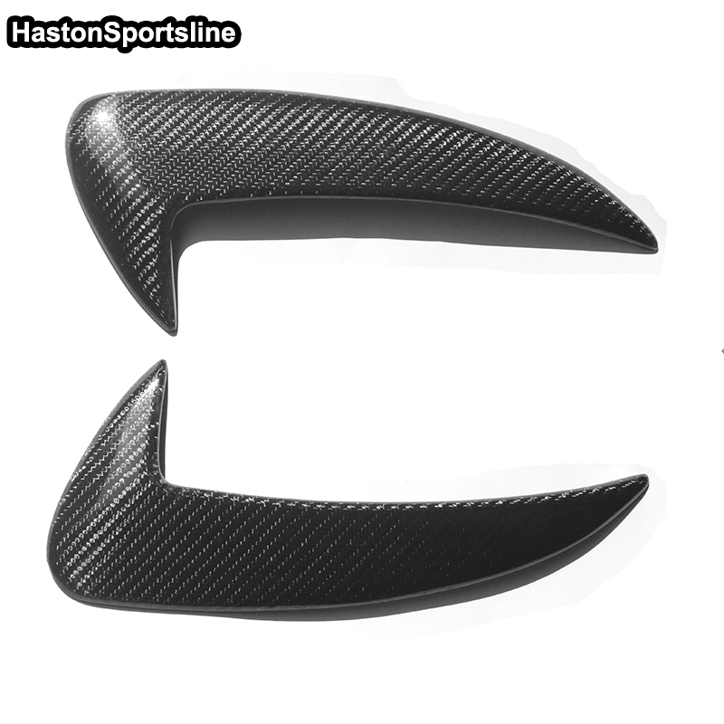 For Mercedes Benz C Class W205 C63 AMG Carbon Fiber Side Rear Diffuser Trim Sticker 2015-2017 4Door AMG With Sport Bumper
