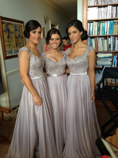 Silver 2019 Cheap Bridesmaid Dresses Under 50 A-line Cap Sleeves Chiffon Lace Beaded Long Wedding Party Dresses For Women