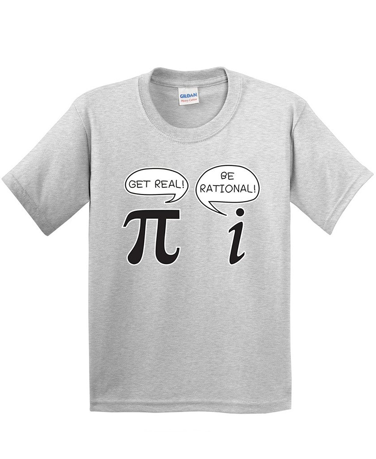 Personalised T Shirts MenS Get Real Be Rational Pi Funny Math Geek Sarcastic Adult Novelty Funny T Shirt Short Sleeve T Shirts