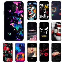 Ojeleye Fashion Black Silicon Case For Samsung Galaxy A6 2018 Cases Anti-knock Phone Cover Covers