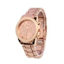 Hot sale Women watches top brand luxury Geneva Ladies Girl Unisex Stainless Steel Quartz Wrist Watch free shipping Jack