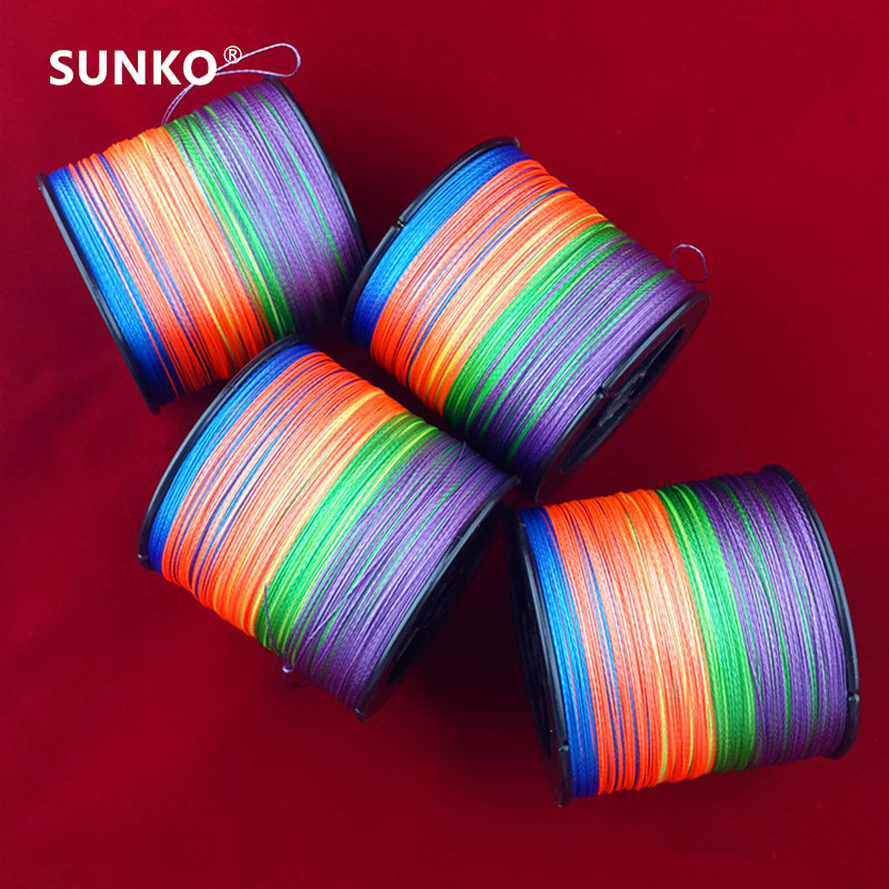 Enough 500M SUNKO Brand 8 10 20 30 40 50 60 70LB Super Strong Japanese colorful Multifilament PE Material Braided Fishing Line