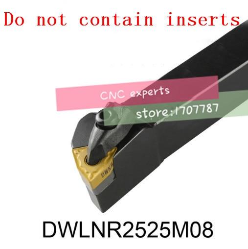 DWLNR2525M08,turning Tool Holder Boring Bar Internal Turning Tools D TYPE Locked Mini Lathe Tool Holder For WNMG 0804 Inserts