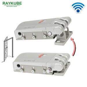 Image 3 - Installazione facile della porta di sicurezza della serratura astuta R W03 RAYKUBE controllo senza fili elettrico della serratura di porta con telecomando aperto & vicino