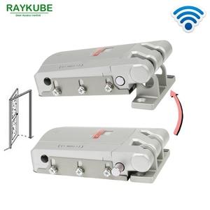 Image 3 - RAYKUBE Electric Door Lock Wireless Control With Remote Control Open & Close Smart Lock Security Door Easy Installing R W03