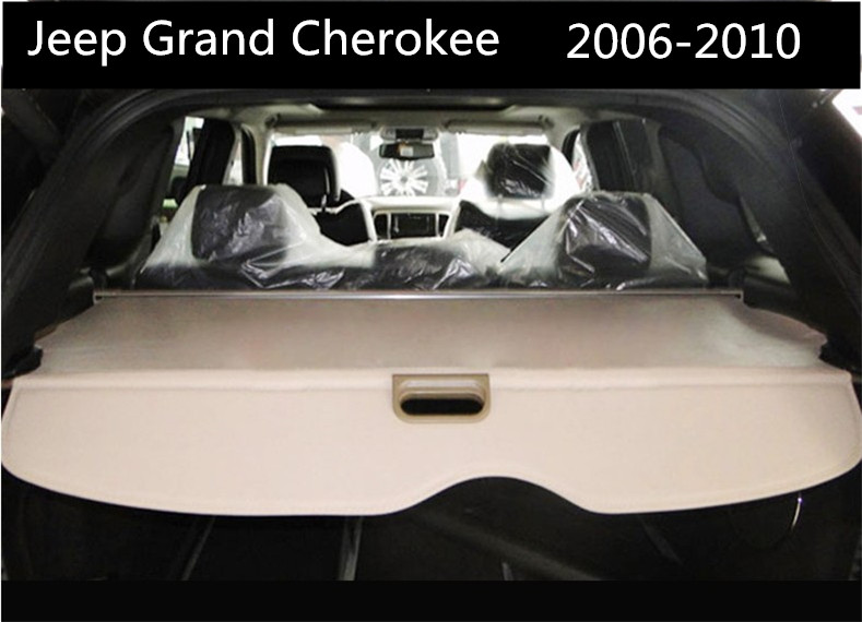 Car Rear Trunk Security Shield Cargo Cover For Jeep Grand Cherokee 2006.2007.2008.2009.2010 High Qualit Auto Accessories car rear trunk security shield cargo cover for hyundai tucson 2006 2014 high qualit black beige auto accessories