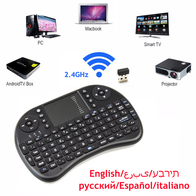 DMYCO 2.4GHz Wireless Keyboard Mouse +Touchpad Handheld Remote Control for Android TV BOX Mini PC with Russian English keyboard