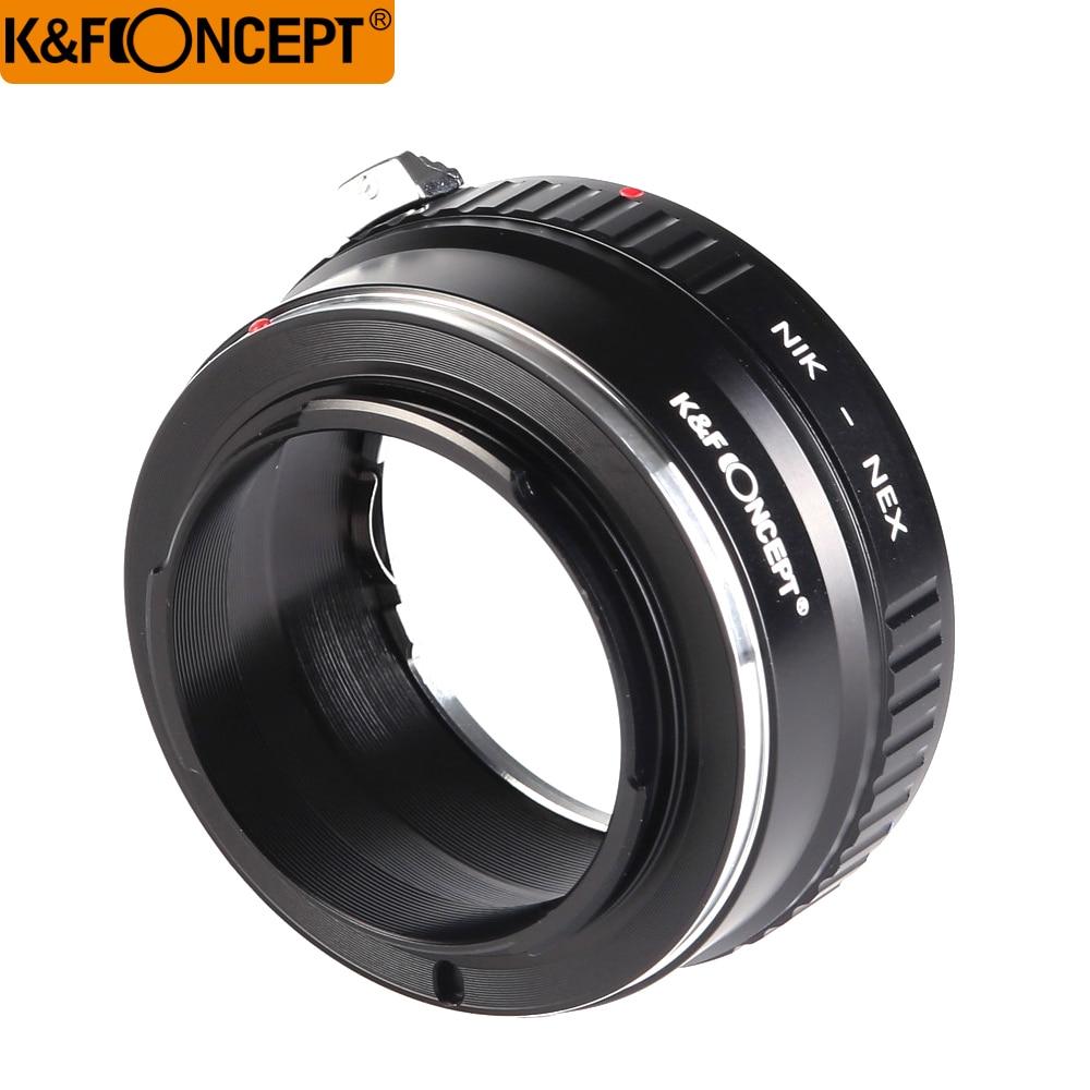 K & F CONCEPT AI-NEX Adaptateur Anneau pour Nikon AI Lens pour Sony NEX E NEX-3 NEX-5 Caméra
