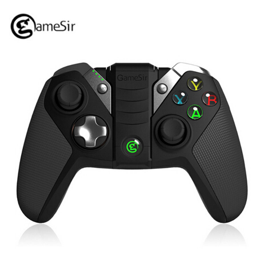 GameSir G4 Wireless <font><b>Bluetooth</b></font> Controller For PS3 Smartphone Tablet <font><b>PC</b></font> Games Wired Gamepads Gaming <font><b>Joystick</b></font> Built-in Phone Holder