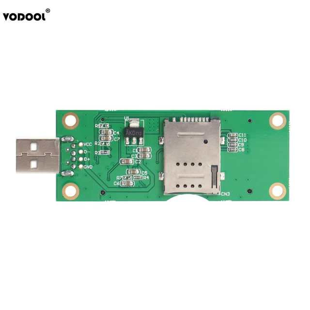Mini PCI-E to USB Adapter with SIM 8Pin Card Slot for WWAN/LTE Module  Support SIM 6pin/8pin Card Connector