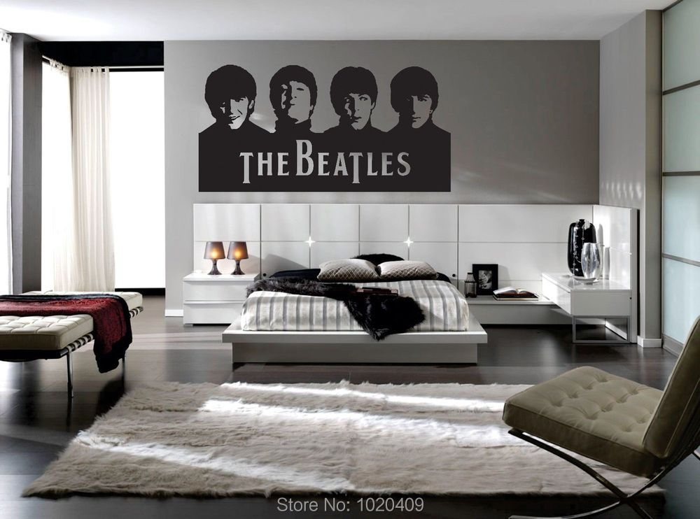 t501 music band artist the beatles generation musical instrument designs wall vinyl sticker caligraphy quotes home cut sticker