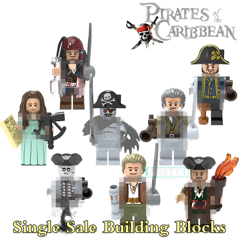 Single Sale Building Blocks Jack Sparrow HenryPirates of the Caribbean Model Toys Hobbies Gift Brick Marvel DIY Figures X0160