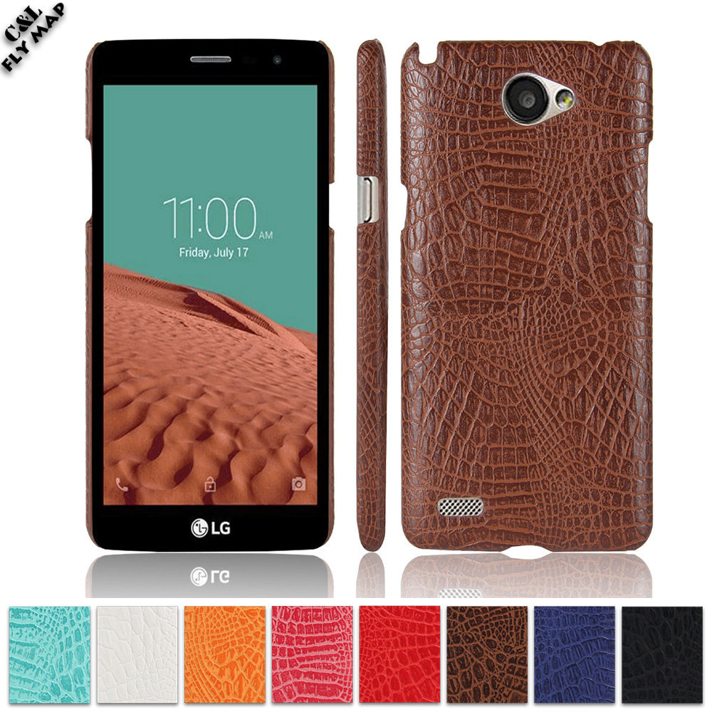 Crocodile Case for <font><b>LG</b></font> <font><b>Max</b></font> X155 LGX155 <font><b>LG</b></font>-X155 X <font><b>155</b></font> Hard PC Protective Phone Cover Coque for <font><b>LG</b></font> L Bello II / Prime 2 X150 X165 image