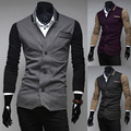 Free shipping 2017 Hot Sale Fall Fashion Men's Faux Leather Jacket Men's Casual Wear Top quality Size M-XXL